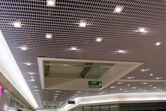 faux plafond suspendu métallique