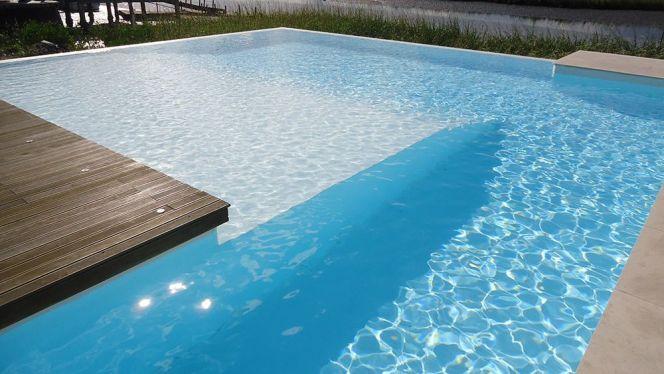 pose d'un liner piscine